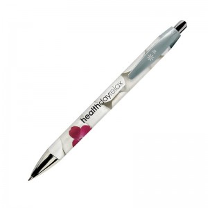 Penna in plastica BIC Wide Body Digital Chrome personalizzata