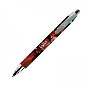 Stylo en plastique BIC Wide Body Digital Chrome personnalisé
