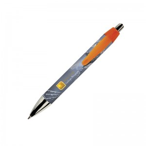 Personalised plastic pen BIC Wide Body Mni Digital Chrome