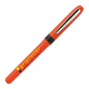 Personalised plastic pen BIC Grip Roller Chrome