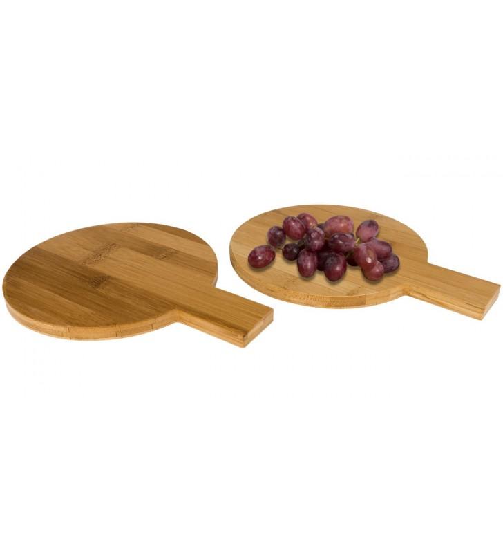 Set di 2 pezzi di bambù circolari da amuse-bouche