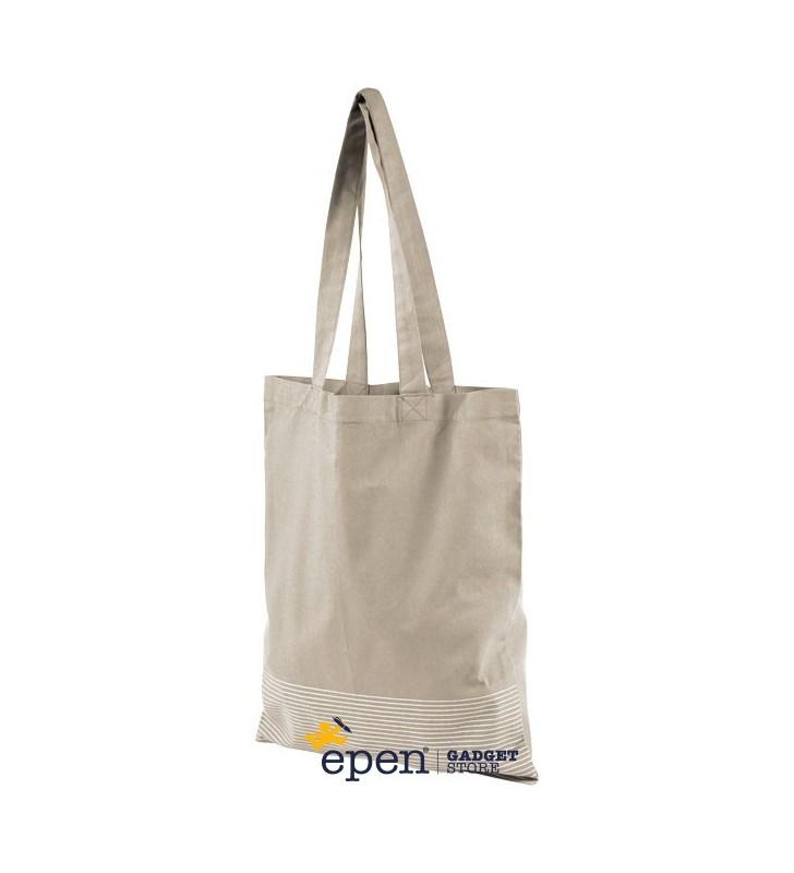 Shopper in cotone 140 g/m² con rivestimento argentato Aylin