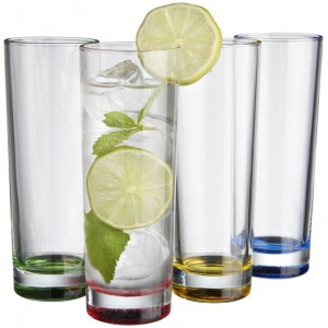 Set da 4 bicchieri in vetro...