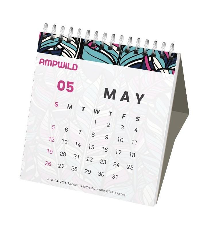 Calendario da tavolo con copertina rigida