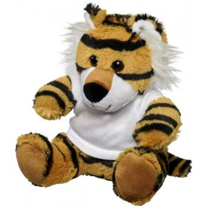 Stripes plush tiger with shirt