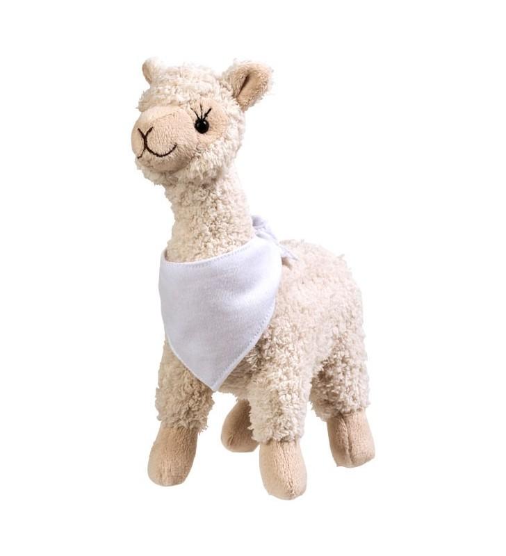 Alpaca di peluche con bandana personalizzabile Cuzco