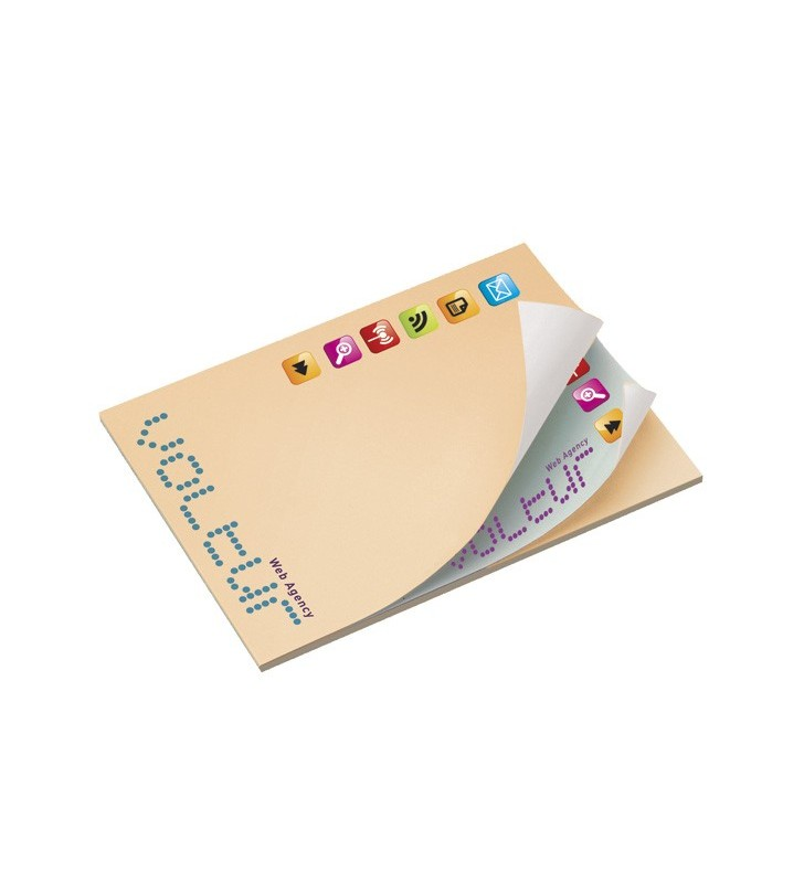 101mm x 75mm Adhesive Notepads Alternating ÖKO
