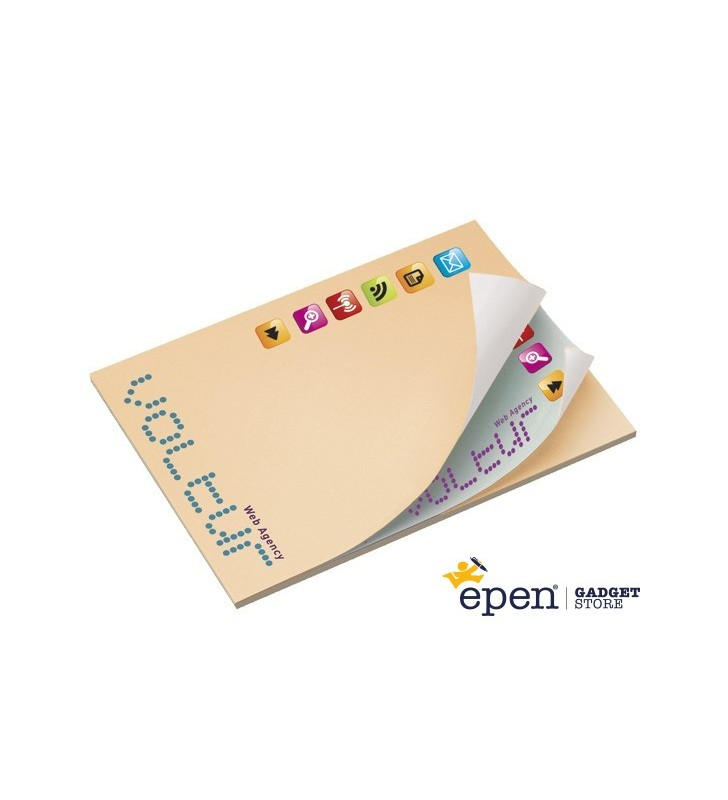 101mm x 75mm Adhesive Notepads Alternating ECO