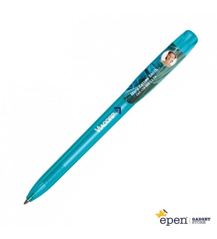 Penna in plastica BIC Super Clip Britepix personalizzata
