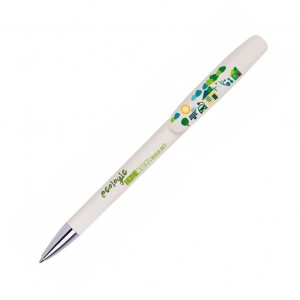 Personalised plastic pen BIC SUPER CLIP ADVANCE BRITEPIX