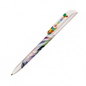 Personalised plastic pen BIC Super Clip Britepix Digital