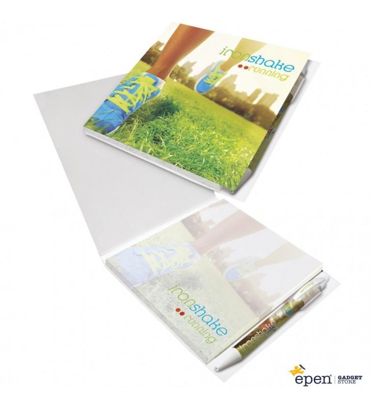 Booklet con Bolígrafo Loop 150 mm x 150 mm