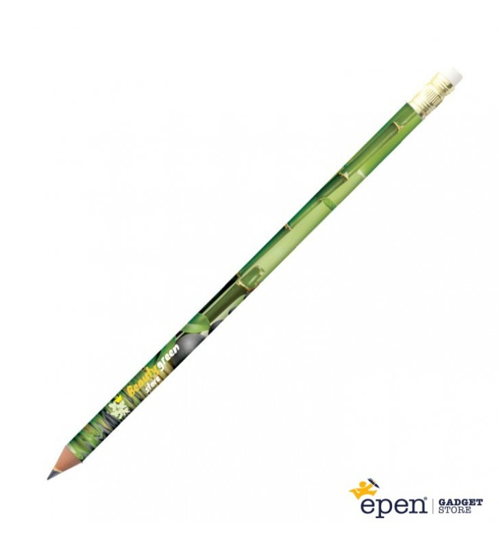Personalised ECO-FRIENDLY wooden pencil with rubber