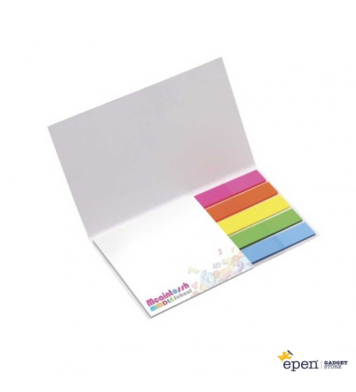 75 mm x 75 mm Adhesive Notepad with Flag Booklet