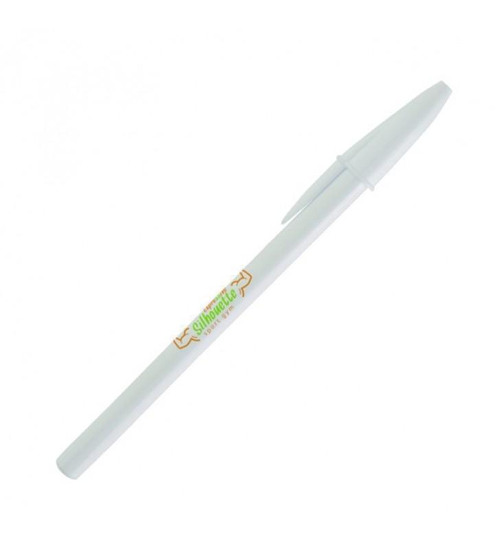Penna BIC Style white personalizzata