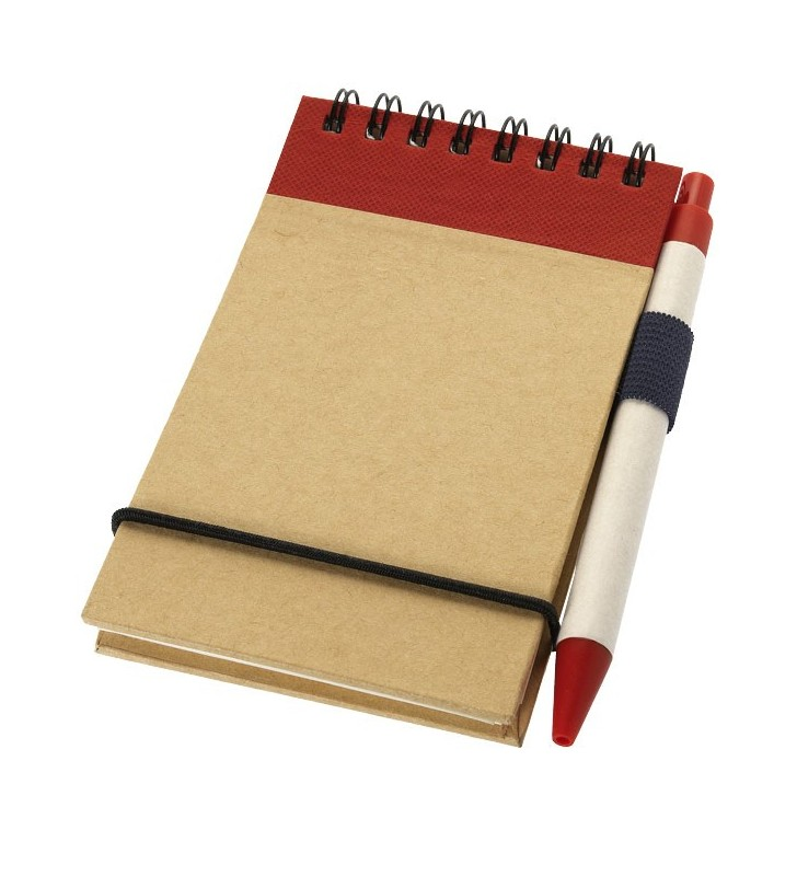 Zuse A7 recycled jotter notepad with pen