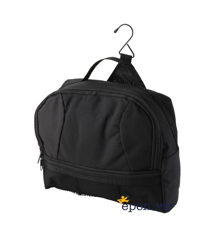Global toiletry bag with metal hook