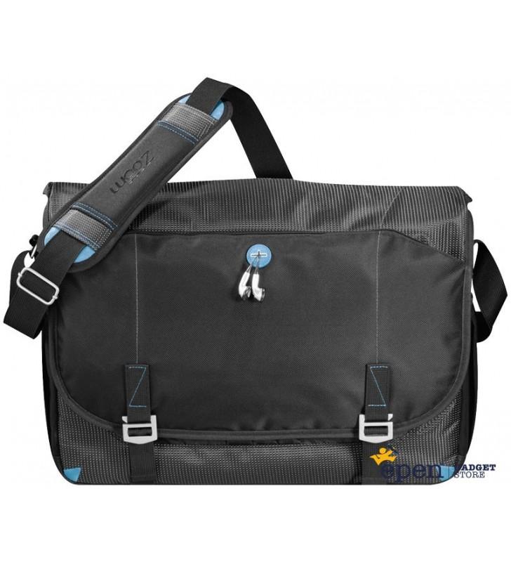"Checkpoint friendly 17"" laptop messenger bag"